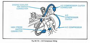 A C Compressor Clutch Wiring Diagram Fan  A  Wiring