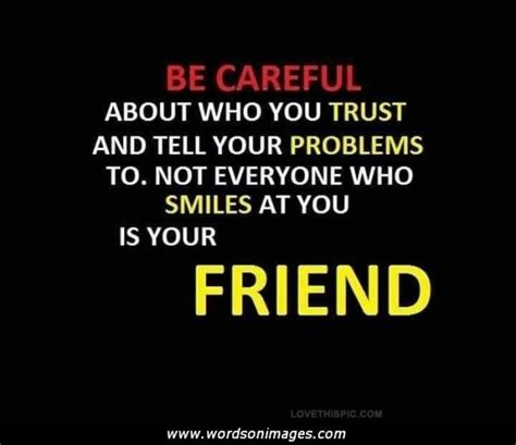not trustworthy friends quotes