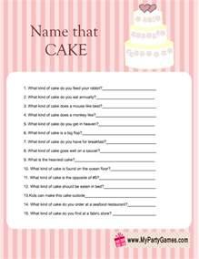 wedding cake quiz name that cake bridal shower free printable