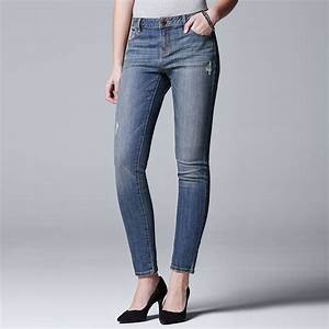 Women 39 S Simply Vera Vera Wang Slimming Skinny Jeans