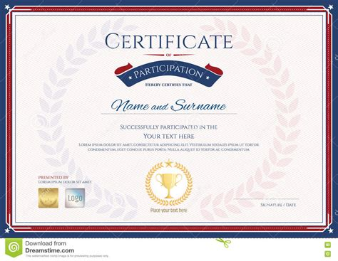 Certificate Of Participation Template In Sport Theme