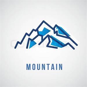 Mountain Logo - Geometric Sign - Vector Logo Sign Template ...