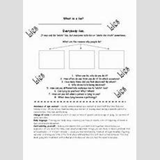 English Worksheets Why Do We Lie? (speaking Activity
