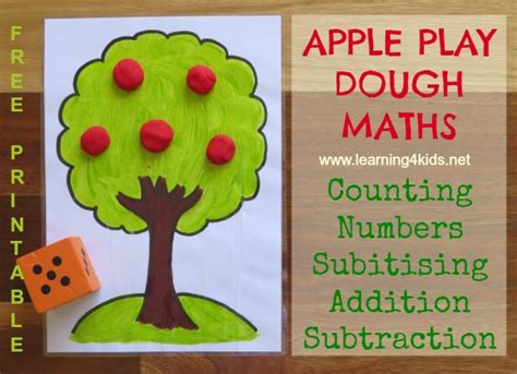 apple tree play dough maths learning 4 179 | Play Dough Maths Activities 11