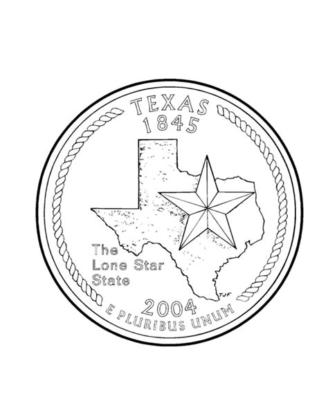 state  texas coloring page