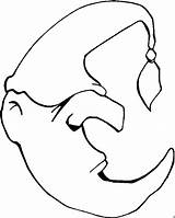 Moon Coloring Pages Printable Sleepy Animated Sun Nightcap sketch template