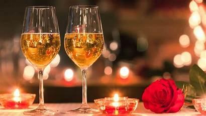 Dinner Valentine Decoration Candlelit Restaurant Wine Maldives