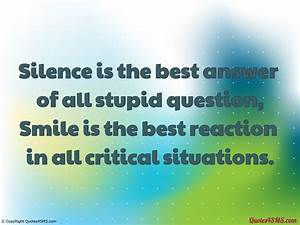 Quotes Silence Is The Answer. QuotesGram