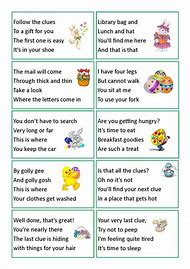 Best 25 ideas about treasure hunt clues find what youll love easter egg hunt clues negle Images