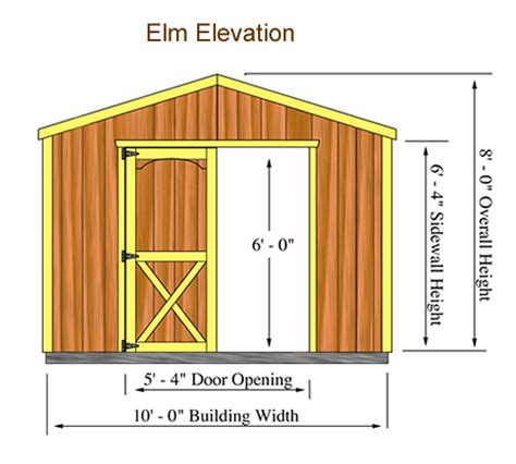 10x12 Shed Frame Kit by Elm Shed Kit Storage Shed Kit By Best Barns