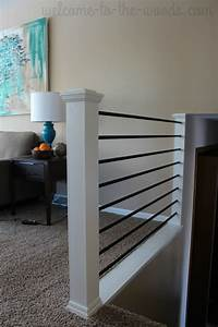 Stair Railing DIY Makeover Welcome To The Woods