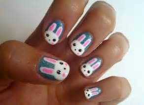 Nail art pawprint cute bunny