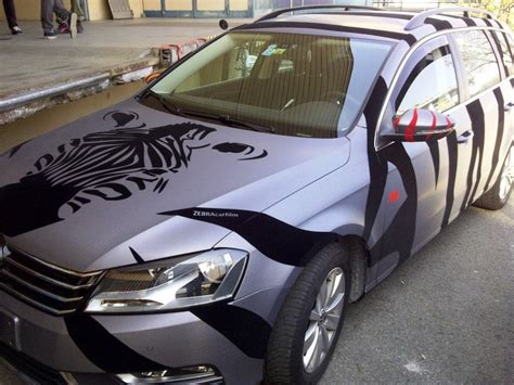 cool wrapped cars car wrapped in zebra car film car wrapping pinterest
