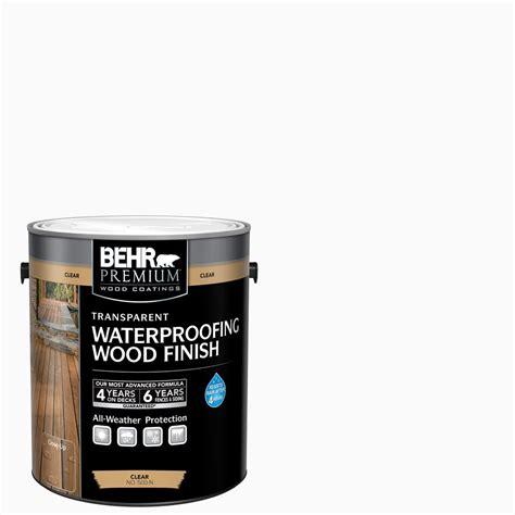 behr premium  gal clear transparent waterproofing