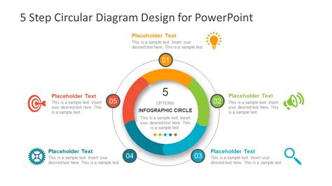 Step By Step Cycle Diagram by 5 Step Circular Diagram Design For Powerpoint Slidemodel