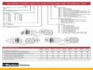 Chelsea 280 Series Pto Parts List Manual  Find Your Pto
