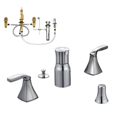 moen voss faucet specs moen voss 2 handle bidet faucet trim kit with valve in