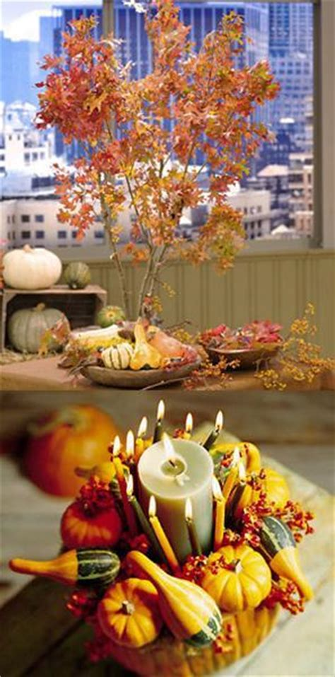 creative fall table decorations  centerpieces