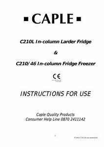 C210l C21046 Instruction Manual