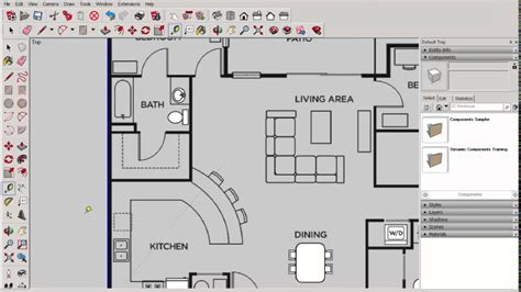sketchup   scale    scale floor plan youtube