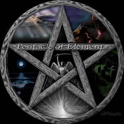 Pentacle Elements Wiccan Wicca Pentagram Pagan Witchcraft