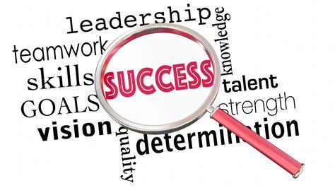 Success Magnifying Glass Words Teamwork Leadership 3 D