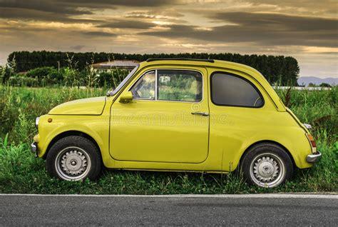 Small Fiat Car by Small Vintage Italian Car Fiat Abarth Stock Photo Image