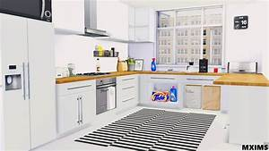 Maxims39s 2t4 basic kitchen 5 meshes counter with 6 for Kitchen furniture sims 4