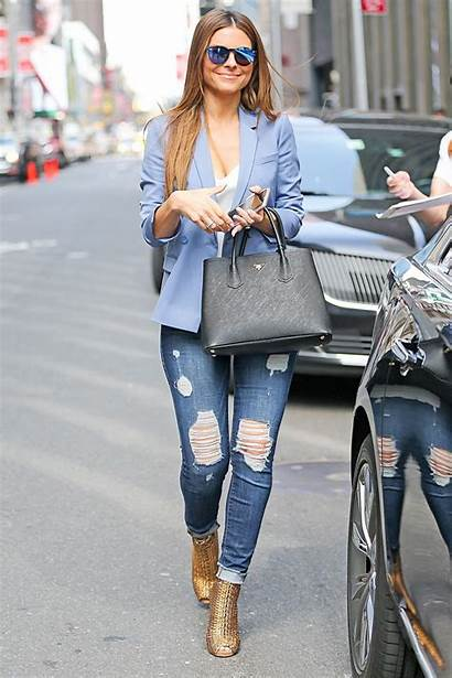 Menounos Maria Jeans Trendy York Ripped Showing