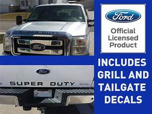 find 08 16 ford super duty grill tailgate letter inserts With super duty vinyl letters