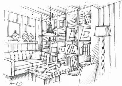 Living Perspectiva Dibujo Interior Dibujos Pintar Interiores