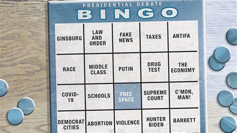 bingo card debate biden trump presidential cartoons cartoon vs donald joe presto gannett