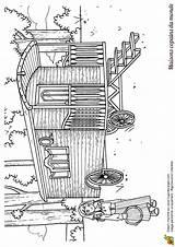 Dessin Gypsy Caravan Maison Tzigane Coloring Coloriage Pages Wagon Monde Vardo Caravane Template Du Dessiner Des Sketch Dessins sketch template
