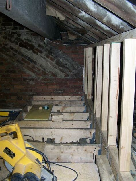 Loft conversion   stud work & floor joists ready for
