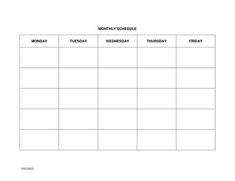 monthly schedule template monthly schedule template e commercewordpress