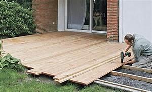 Gewächshaus Einrichten Boden : terrasse aus holzdielen bauen holzarbeiten m bel ~ Orissabook.com Haus und Dekorationen