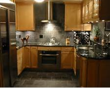 Delectable White Kitchen Cabinets Slate Floor Gallery Kitchen Ideas With Maple Cabinets Creative Home Designer