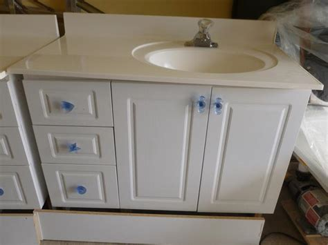 bathroom vanities including  piece counter  sink