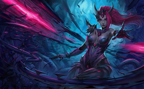 Fantasy Battle Wallpaper 1920x1080 Headhunter Zyra Girl With Horns Video Game League Of Legends Poster Wallpaper Hd 6033x3733