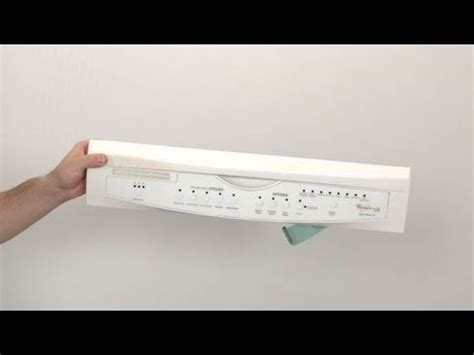 whirlpool dishwasher touchpad control panel  youtube