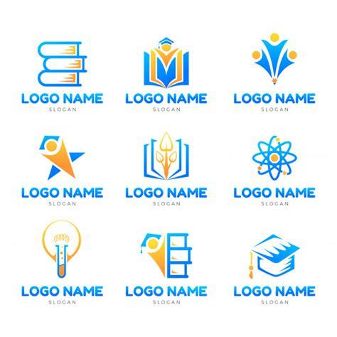 education iconic logo set template vector premium