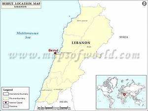 Where Is Beirut Location Of Beirut In Lebanon Map