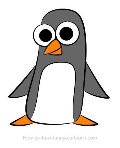penguin drawings sketching vector