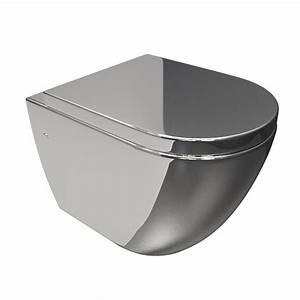 Cuvette Pour Wc Suspendu : cuvette suspendue en ceramique couleur argent chrome de geberit ~ Melissatoandfro.com Idées de Décoration