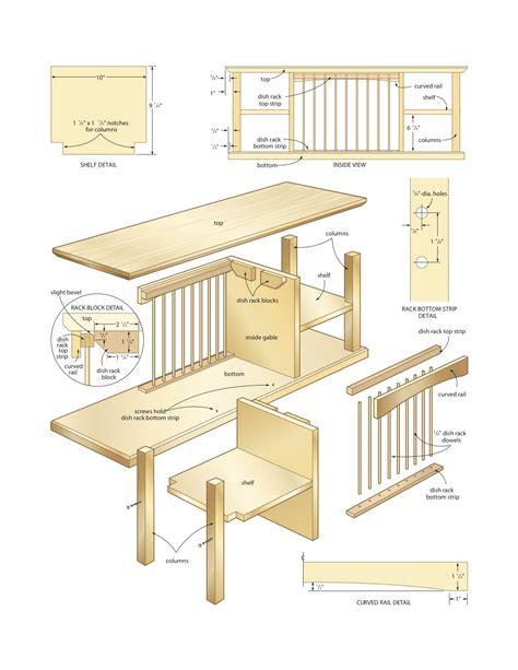 dish organizer rack woodworking plans woodshop plans