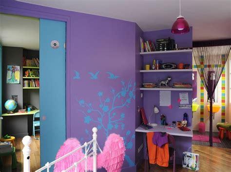 chambre bleu violet choix peinture chambre