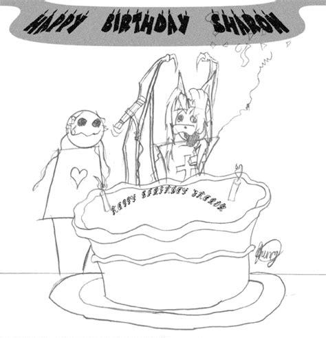 LD5 Artists/DragonMorph/happy_birthday_sharon_bw