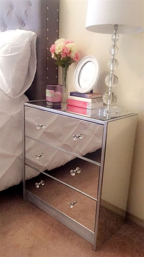 Diy Mirror Nightstand I Made )  Mirrored Nightstand Diy