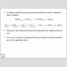 Net Ionic Equations And Spectator Ions Youtube
