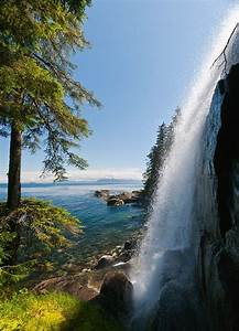 Side View Of Unnamed Waterfall Along Chatham Strait On East Side Of Baranof Island In The Inside